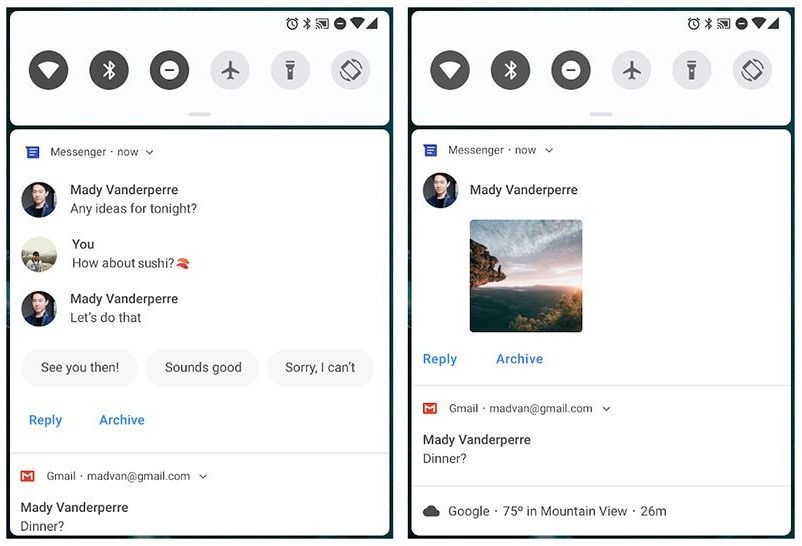 Notification Enhancements for Messaging
