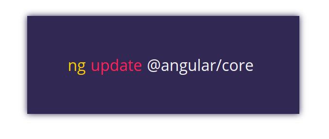 Angular 6: ng update