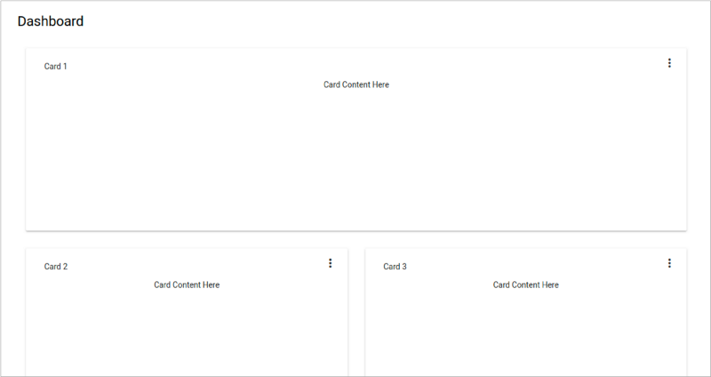 Angular 6: Material Dashboard