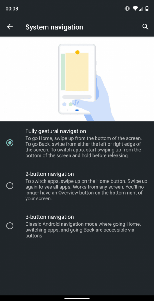 Android Q - Navigation System