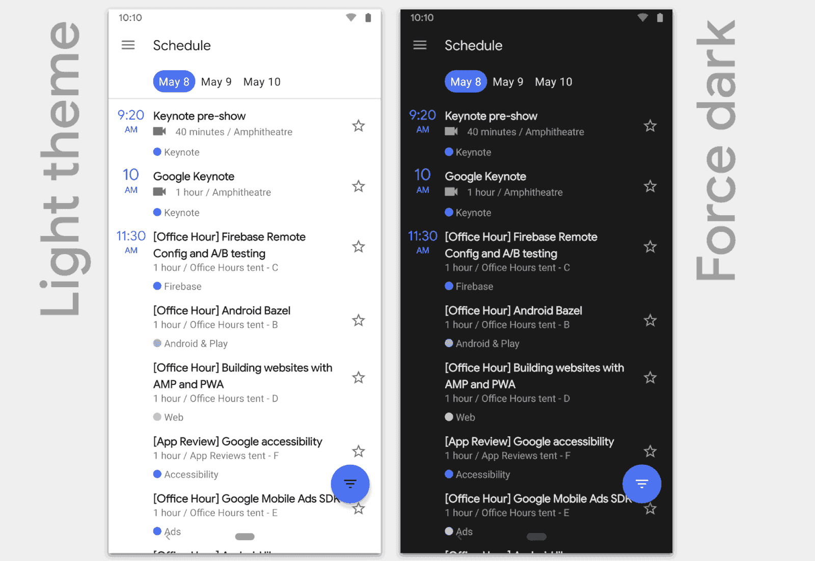 Android Q - Dark Mode