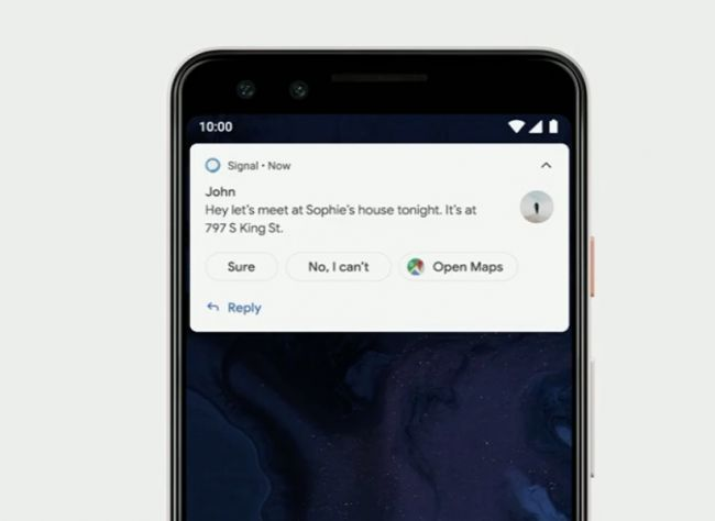 Android Q - Messaging App Smart Reply
