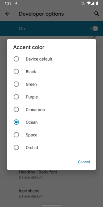 Android Q - UI Customizations