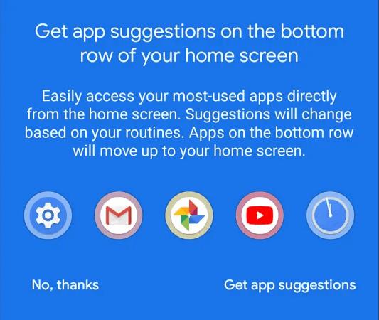 Dynamic App Suggestions