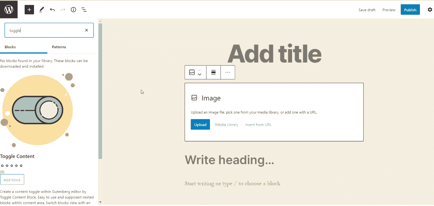 WordPress 5.5 - New Block Directory