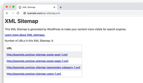 WordPress 5.5 - Default XML Sitemaps