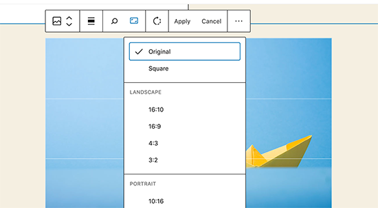 WordPress 5.5 - Inline Image Editing