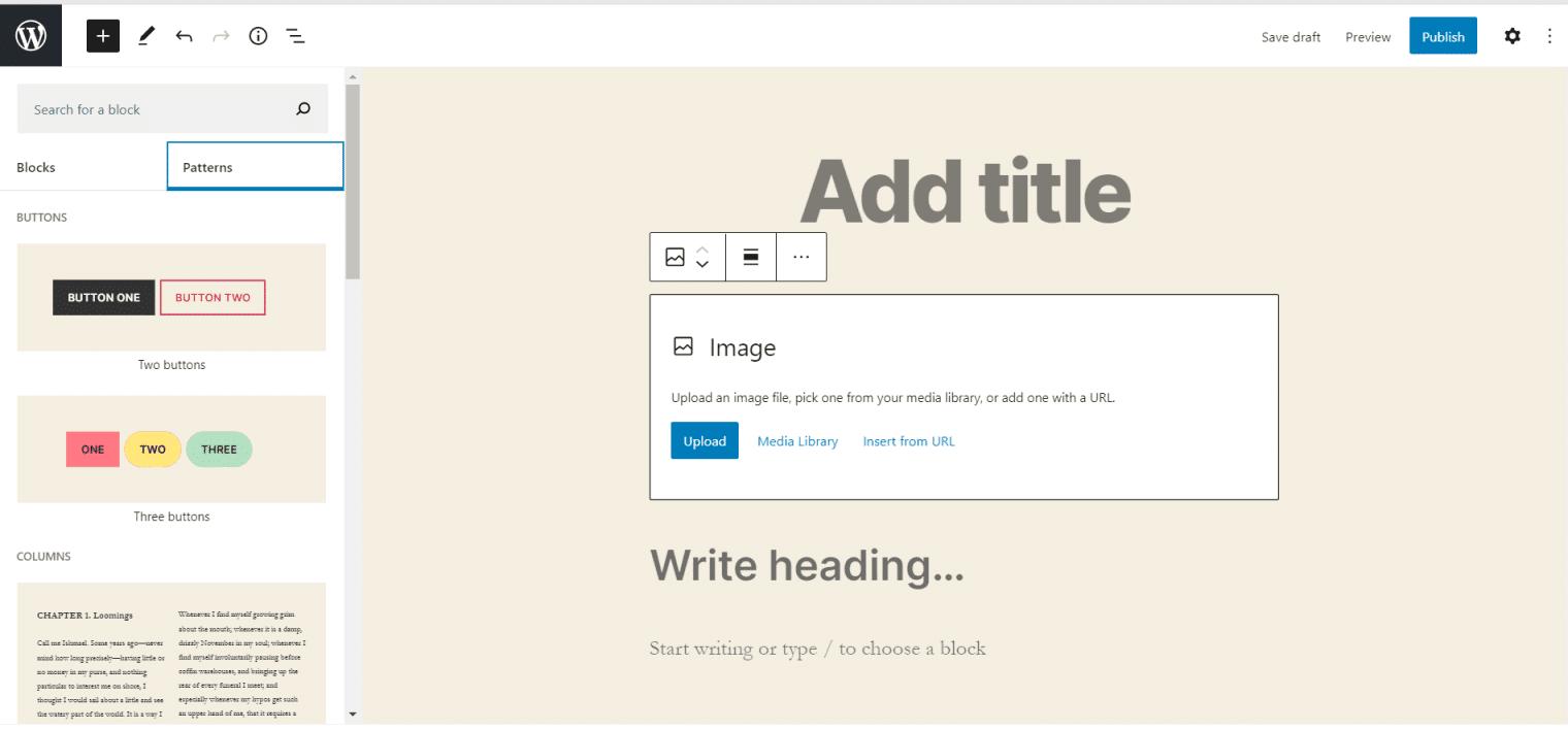 WordPress 5.5 - Block Patterns
