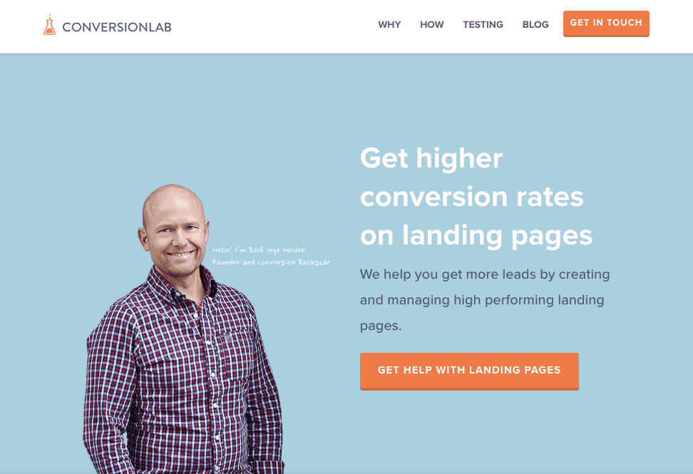 Conversion Lab Landing page Example