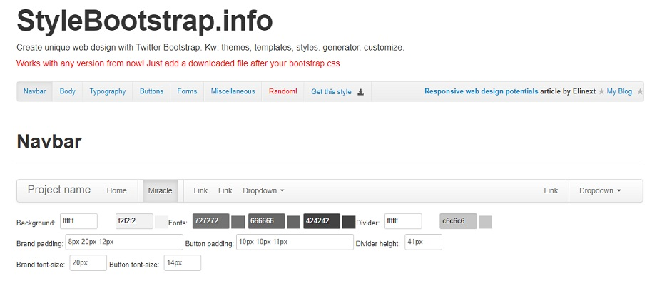 Style Bootstrap